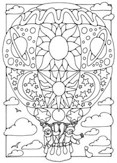 178 Mandalas Coloring Pages - 2020 - Free Printable Coloring Pages. Coloring Pages For Grown Ups, Coloring Book Pages, Printable Coloring Pages, Coloring Pages For Kids, Coloring Sheets, Colorful Drawings, Colorful Pictures, Air Balloon, Balloons