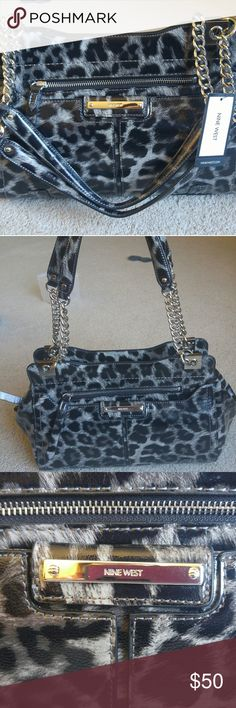 Nine West Purse Hello. I am currently Selling a New with Tags Nine West purse. It is brand new and ready to be shown off! All the known details are listed but feel free to make offers or ask question.   Brand: Nine West Condition: New with Tags Type: Shoulder Bag Pattern: Animal Print Authentic: Yes Defects: No Its in perfect condition! Color: Black and White Nine West Bags Shoulder Bags Nine West Purses, Shoulder Bags, Color Black, Brand New, Animal, This Or That Questions, Type, Black And White, Pattern