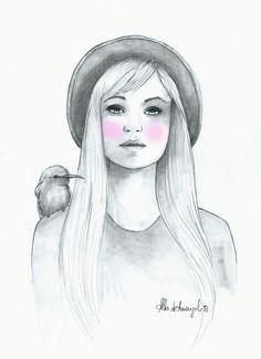 alba de armengol fashion girl ilustration