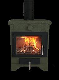Ecco Stove ® E580 in Forest Green with Flat Black casting. #eccostove #designyourowne580 #alternativeheating