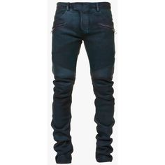 Balmain Ribbed suede biker pants ($2,040) ❤ liked on Polyvore featuring mens, men's clothing and men's pants
