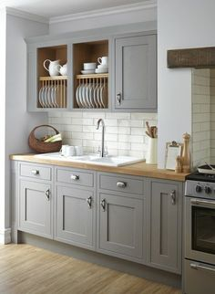 Uplifting Kitchen Remodeling Choosing Your New Kitchen Cabinets Ideas. Delightful Kitchen Remodeling Choosing Your New Kitchen Cabinets Ideas. Grey Kitchen Cabinets, Grey Kitchens, Kitchen Cabinet Design, Luxury Kitchen Cabinets, Grey Kitchen Inspiration, Small Kitchen Inspiration, Modern Kitchen, Rustic Kitchen Cabinets, Kitchen Renovation