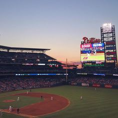 What a beautiful night for a Phillies game at Philadelphia's Citizens Bank Park. (Photo by C. Calhoun for Visit Philly) Phillies Game, Visit Philly, Philadelphia Sports, Major League, Baseball Field, Park, Night, City, Instagram Posts