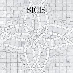 Classic White Marble Collection - Color selection: CW05 #Sicis #Mosaic #Architecture #InteriorDesign
