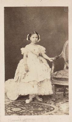 "Little infantita Isabel of Spain, aka ""La chata"". Late 1850s."