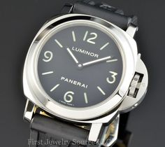 Panerai Luminor Base Stainless Steel Sandwich Dial 44mm Pam 112 Series,  $4300 on eBay    The whole Panerai thing has really grown on me, and now I think I'd realy like one.  This 44mm case is probably about the right size - anything smaller seems hardly worth it for the real Pan experience!    I like the clean, simple design, no complications and utilitarian feel.  This could be for me (though I'd put the tan leather strap on).
