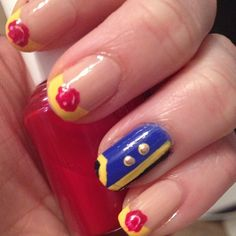 Beauty and the Beast Nail Art designed by myself! Fun easy and simple!