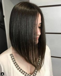 Medium Inverted Bob Straight Hairstyles 2018-2019