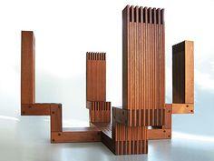 Wooden furniture design by Alfred van Elk