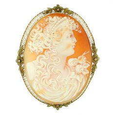 A. Brandt + Son - Victorian Large Hand Carved Shell Cameo Pin