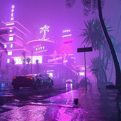 vaporwave car Running In The Night: The Superb Cyberpunk Artworks By Daniele Gasparini