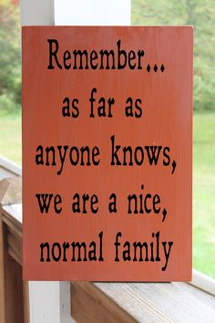 Funny Family Wood Sign, Nice Normal Family, Family Quote, Kitchen Sign, Playroom Sign