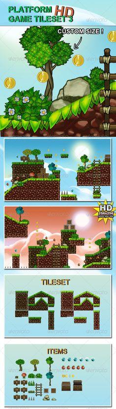 Platform Game Tileset 3 HD