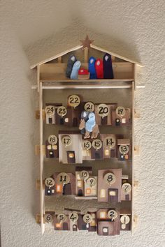 bethlehem calendar: finally something I want Scott to do with all of the scrap wood taking up room in my garage...