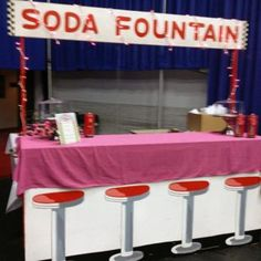 50s - 60s Rock and Roll Party soda fountain booth