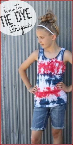 how to tie dye stripes design - tips and tricks for this simple diy tie dye shirt technique - - Sugar Bee Crafts