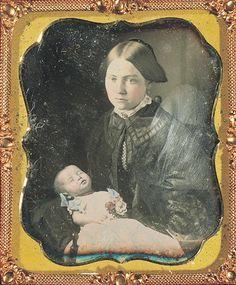 daguerreotype circa 1850's very poignant piece of post mortem photography