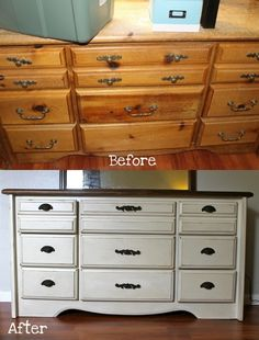 diy white dresser by suevans
