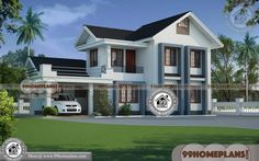 Home Plans Kerala Style Beautiful Double Storey Houses Collections Small Contemporary House Plans, Modern House Floor Plans, Simple House Plans, House Plans With Pictures, House Design Pictures, Free House Plans, Ranch House Plans, Traditional Style Homes, Traditional House Plans