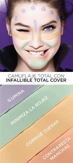 Descubre el corrector de maquillaje que lo cubre todo, el nuevo Total Cover, de Loreal Paris Mexico