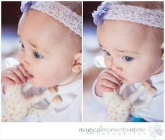 6 month old girl with a lace headband photography by: Magical Moments in Time Photography Time Photography, Children Photography, 6 Month Olds, Lace Headbands, Cape Town, Mom And Dad, 6 Months, Photoshoot, In This Moment