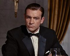 Sean Connery in Goldfiner with Notched Lapel Tuxedo