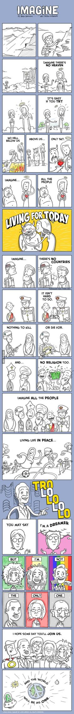 Imagine by John Lennon, explained in a comic