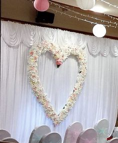 Wedding backdrop with giant floral heart at Dunmar House Hotel, Alloa Wedding Church Aisle, Wedding Aisle Outdoor, Aisle Runner Wedding, Wedding Aisle Decorations, Diy Wedding, Wedding Events, Flower Backdrop, Event Venues, Event Decor