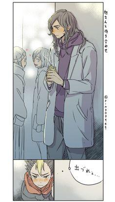 """pinochiyo: """"Meeting at the station with asahisan """""""