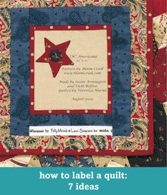 How to label a quilt: 7 ideas