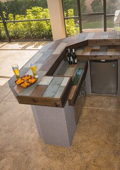 Outdoor Kitchen Tile Countertop | Ideas for Outside the House ...