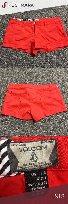 red short shorts worn twice, great condition! Volcom Shorts