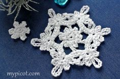 CHRISTMAS CROCHET SNOWFLAKE | MyPicot | Free crochet patterns  ~  ***WAIT...THERE'S MORE TO COME!  ♥A