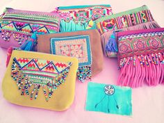 Clutch Bag Models, # clutch bag construction # logclutchbag # easy to … Diy Bags Purses, Purses And Handbags, Purses Boho, Diy Clutch, Clutch Bag, Diy Sac, Ethnic Bag, Boho Bags, Craft Bags