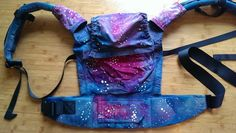 Customized - hand dyed and painted by COBBETTE CREATIONS Tula Baby Carrier