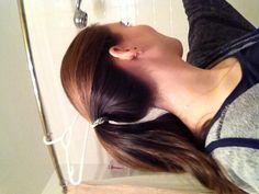 My new hair--- natural hair on top, dark underneath
