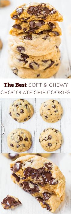 The Best Soft and Chewy Chocolate Chip Cookies - My favorite recipe for chocolate chip cookies! Just one bite and I think you'll agree!