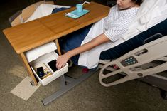 The Knú Healthcare Overbed Table | Industrial Woodworking Corporation