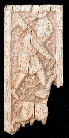 Fatimid Carved Panel, 11th Century Date: 11th century. Geography: Egypt. Medium: Bone: carved. Dimensions: H. 3 3/4 in. x (9.5 cm) W. 1 3/4 in. (4.4 cm) D. 3/16 in. (0.5 cm). Source: Metmuseum Plate G, Men-At-Arms Series 125, The Armies of Islam 7th-11th Centures by David Nicolle & Angus McBride based on this panel. Fatimid Illustrations of Soldiers and Hunters, 10th - 12th Centuries