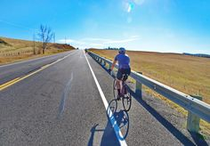 Road to Nepal bike ride south of Calgary