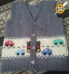 piksel [ Another version of cars, Gilet knit, pixels ] # # # # # # Pin was discovered by SuzMix knitting and crochet pattern Baby by MyPatternsCollectionThis model will be a very nice choice for your baby. Baby Boy Knitting, Vogue Knitting, Knitting For Kids, Baby Knitting Patterns, Baby Patterns, Cardigan Bebe, Knitted Baby Cardigan, Knit Baby Sweaters, Crochet Baby