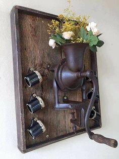 do café Cantinho do café Кантиньо до кафе - Home Crafts, Diy Home Decor, Diy And Crafts, Rustic Crafts, Rustic Decor, Wood Projects, Projects To Try, Rustic Farmhouse, Easy Diy