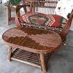 Our willow twig coffee table is handmade in California.  See our entire line of willow furniture