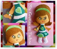 monigota, broche, fieltro, felt, pin, retro, yeyé