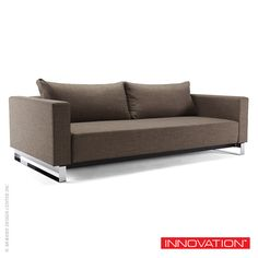 Upholstered in polyester fabric and features Icomfort Excess 10-inch mattress, Innovation USA Cassius Sleek Excess Lounger Sofa includes 2 cushions. #InnovationLiving #Sofabed #Sofa #PerWeiss  Available at metropolitandecor.com  http://www.metropolitandecor.com/Cassius-Sleek-Excess-Lounger-Sofa-Innovation-USA_p_2695.html