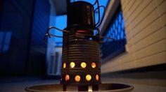 空缶ストーブ(軽い、簡単、よく燃えるシングルウォール)