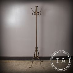 Rare Vintage Industrial Antique Cast Iron Coat Rack Tree Hook Hanger Hat Standing Stand Front Hall