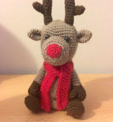 Crochet Amigurumi: Reindeer - free pattern by Amy Skinner. Crochet Christmas Ornaments, Christmas Crochet Patterns, Holiday Crochet, Cactus Amigurumi, Mini Amigurumi, Crochet Gratis, Free Crochet, Free Knitting, Crochet Doll Pattern