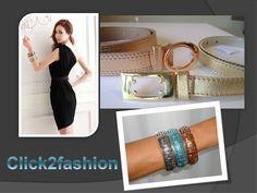 Cinto dourado e rosé + pulseiras by Click2fashion.