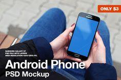 Samsung Galaxy S7 PSD Mockup by JÉSHOOTS.com on @creativemarket